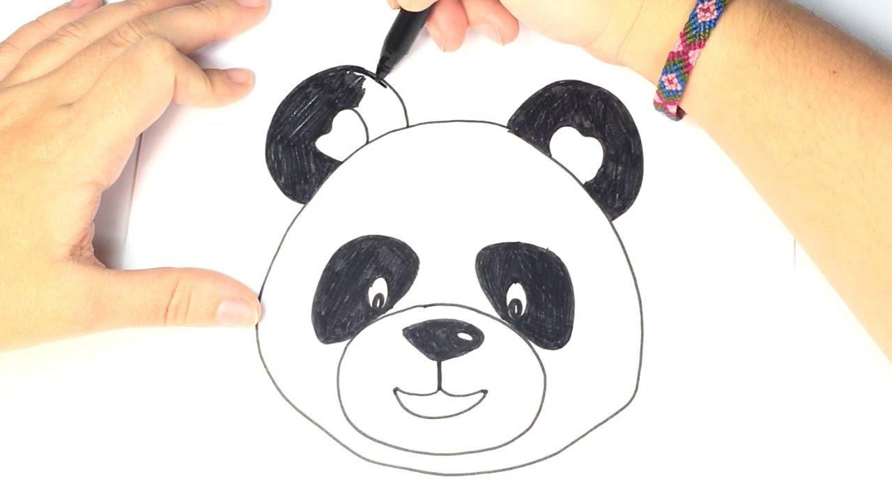 Cómo Dibujar Un Panda Para Niños Dibujo Oso Panda Paso A Paso