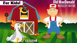 Old MacDonald Had A Farm - Nursery Rhyme In English And French l For Kids!