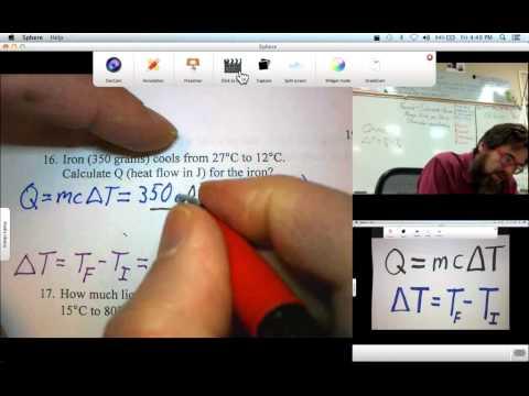 Q=mc∆T Calculations