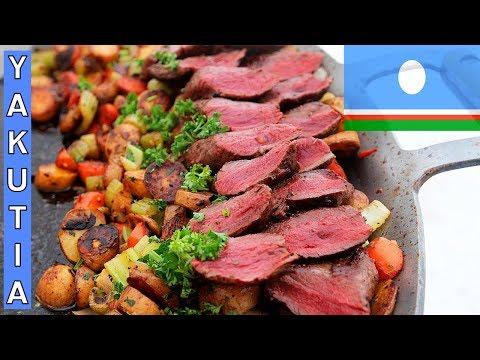 WHAT THEY EAT in YAKUTSK / SAKHA REPUBLIC RUSSIA