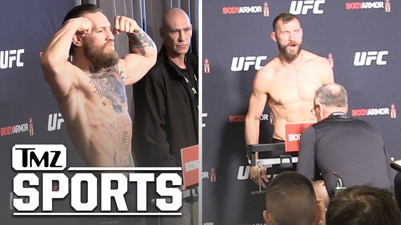 Conor Mcgregor And Cowboy Weigh In For Ufc 246 Tmz Sports
