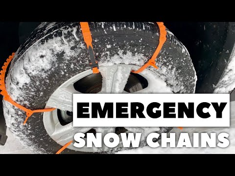 How to Free Your Car from Snow with Emergency Zip Tire Chains