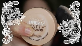 How I Apply Maybelline Dream Matte Mousse Foundation