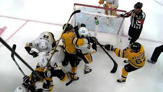 Boston Bruins Vs Pittsburgh Penguins 2nd Period Scrum