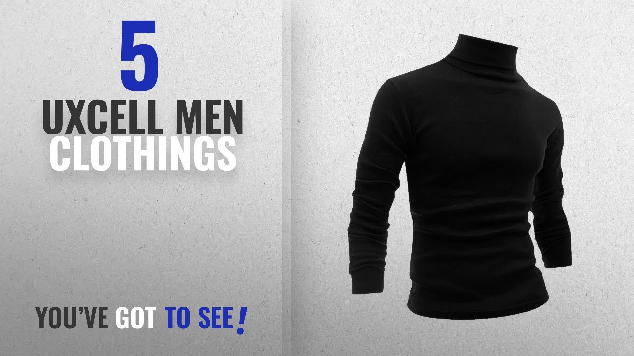 263c81e05b054e Top 10 Uxcell Men Clothings [ Winter 2018 ]: Allegra K Men Long Sleeve  Turtle Neck Slim Fit Casual T