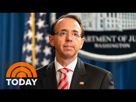 Rod Rosenstein Disputes Report He Considered 25th Amendment   TODAY