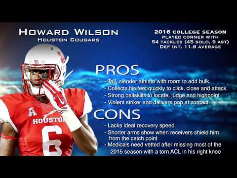 Howard Wilson Profile: Browns 4th round draft pick 2017