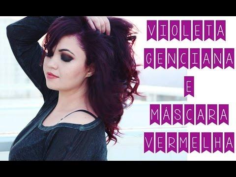 Cabelo Roxo Com Violeta Genciana E M 225 Scara Vermelha Youtube