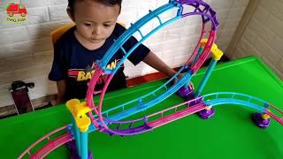 Mainan Anak - Unboxing Mainan Kereta Api Chuggington - Bermain sambil Belajar warna & berhitung