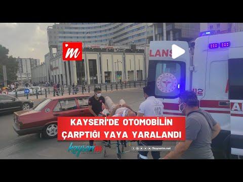 Kayseri'de Otomobilin Çarptığı Yaya Yaralandı