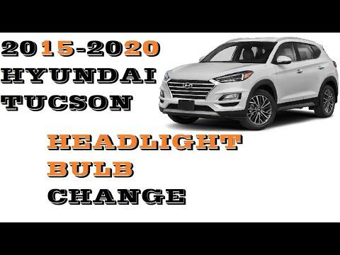 How to change replace Headlight bulbs Hyundai Tucson 2015-2020