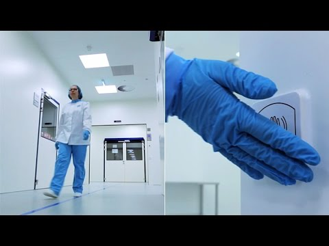 Stock Footage | Automatic Chemical Laboratory Door