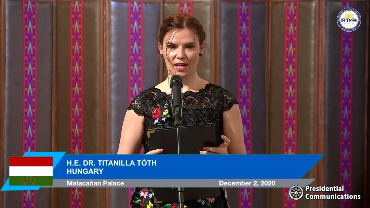 Virtual Presentation of Credentials of the Ambassador of Hungary 12/2/2020