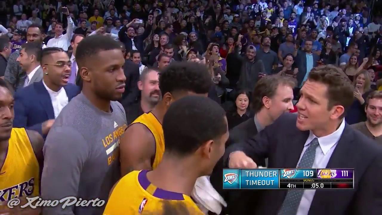 Nick Young Game Winner Thunder Vs Lakers November 22 2016