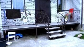 Небольшая входная терраса из металла, лестница, ступени, ковка, перила, веранда, дизайн(посмотреть http://kovka-dveri.com .. Сварная конструкция своими руками, небольшая входная терраса из металла, лестниц..., 2016-10-10T09:59:06.000Z)