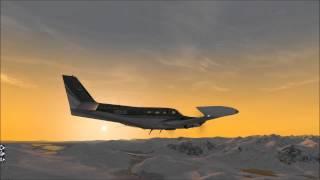 X-plane Cessna 340 Lapponia Winter