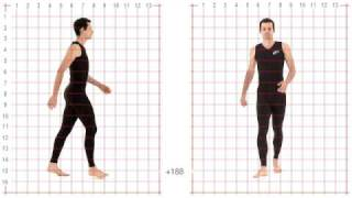 Athletic Male Standard Walk. Animation Reference Body Mechanics