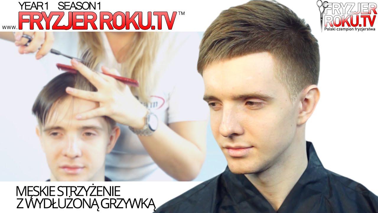 Męskie Strzyżenie Z Wydłużoną Grzywką Mens Haircut With Bangs Fryzjerrokutv