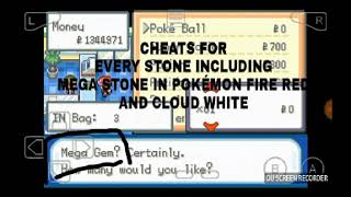 mega stone cheat for pokemon fire red