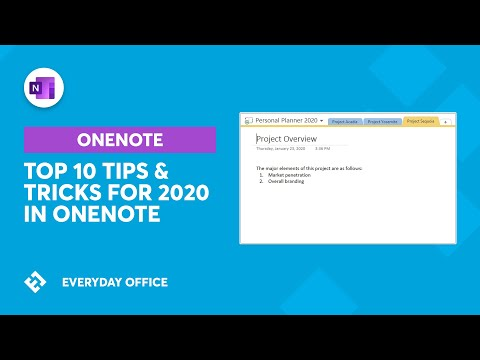 Top 10 Tips with OneNote for 2020 | Everyday Office