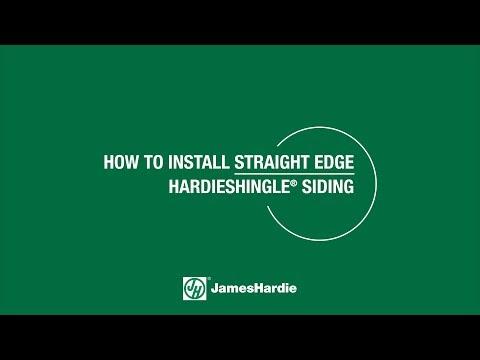 How To Install Straight Edge Hardieshingle Siding Youtube