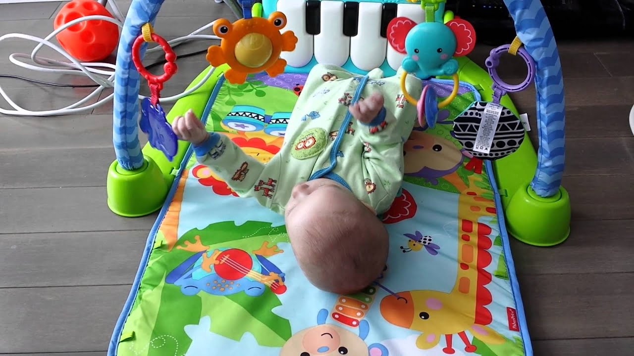 Isaac 2 Months Old Swatting At Toys Youtube