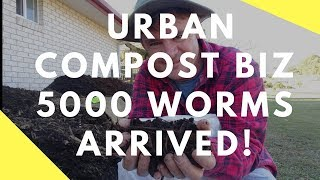 Urban Compost Business 5000 Worms Arrived