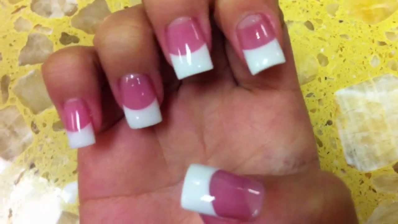 Professional Pink And White Acrylic