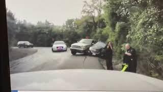 Dashcam captures close call of TX officer, driver