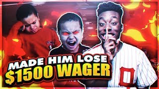 I TROLLED A 9YR OLD KID AND MADE HIM LOSE $1500! Ft. MindOfRez | NBA2K18