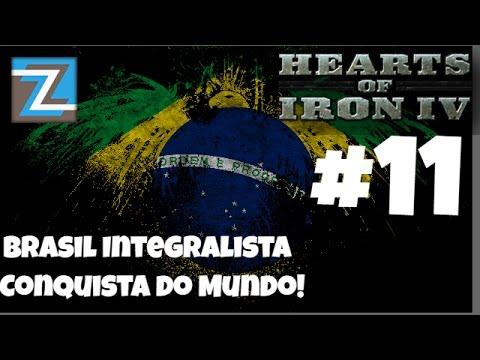 Hearts of Iron 4 - Brasil Integralista - Conquista do Mundo #11 [PT-BR] Gameplay HOI4