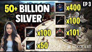 50 Billion Silver Of Accessories - Zero Pay To Win Ep 3 - Black Desert Online [BDO] Gameplay