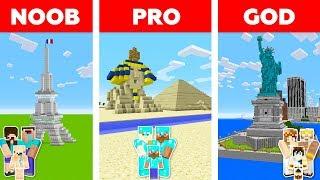 Minecraft NOOB vs PRO vs GOD: FAMILY TRAVEL in Minecraft / Animation