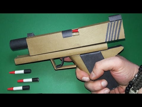 |DIY| How To Make a Paper Grand Canyon Gun That Shoots - Toy Weapons -By Dr. Origami