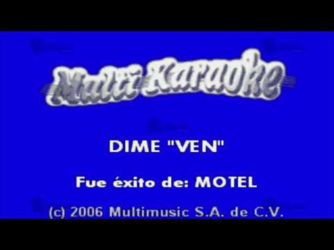 Karaoke - Dime Ven
