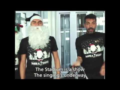 Auguri Di Natale Juventus.Auguri Di Natale Giocatori Della Juventus 2015 Youtube