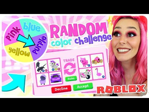 I Tried The RANDOM COLOR Trading Challenge in Adopt Me! (Roblox) thumbnail
