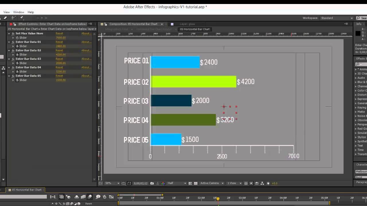 Infographics After Effects Template- Horizontal Bar Chart ...