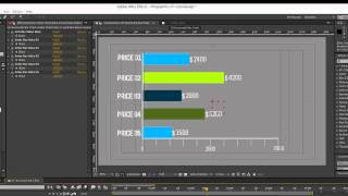 Infographics After Effects Template- Horizontal Bar Chart tutorial