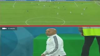 Rojo goal vs Nigeria and crazy Sampaoli Reaction