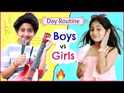GIRLS vs BOYS - Day Routine  Fun RolePlay Sketch MyMissAnand