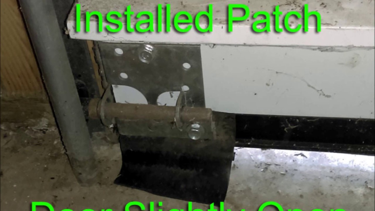 for uneven door concrete bottom garage matttroy floor seal