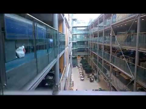 Glass Kone lift/elevator @ Wellcome Trust office (London)