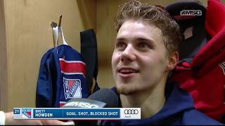 Brett Howden Adjusting to Life With the Blueshirts | New York Rangers | MSG Networks