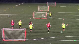 Isabel Liu - Dublin United Soccer League - U10G 2014 Tryouts - 3v3 Highlights