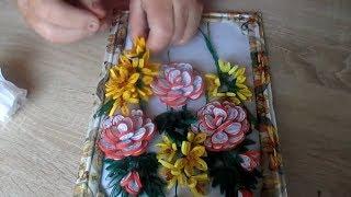 квиллинг как сделать картину из цветов