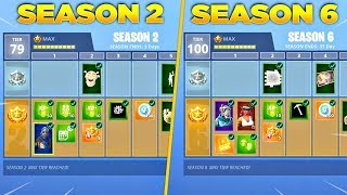THE BATTLE PASSES of SEASON 1, 2, 3, 4 of FORTNITE! 😱😱