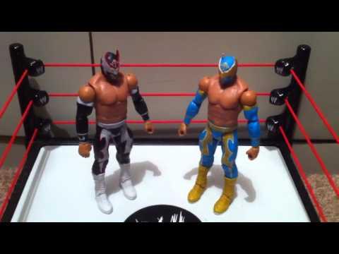 WWE ACTION INSIDER: Hunico Sin Cara Negro Figure review Mattel basic 18
