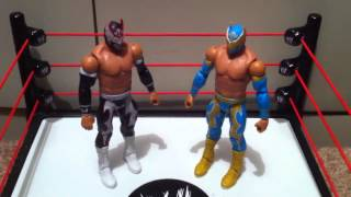 "WWE ACTION INSIDER: Hunico Sin Cara Negro Figure review Mattel basic 18 ""grims toy show"""