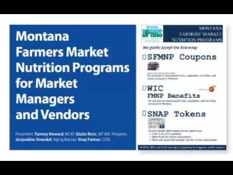 Farmers Market Nutrition Programs for Market Managers and Vendors